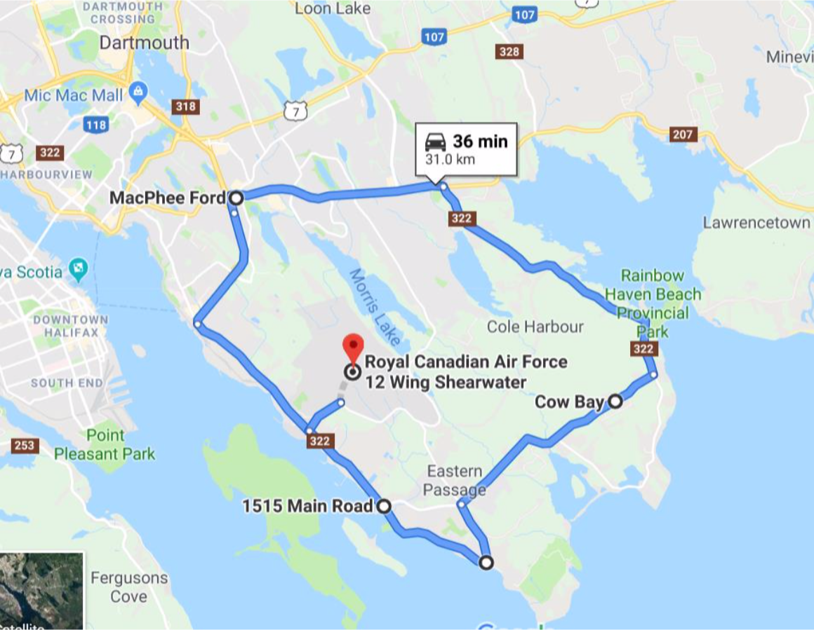 2019 Truck Convoy Route